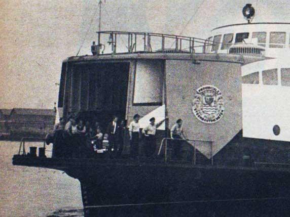 De PSD-veerboot Prins Bernhard in Vlissingen