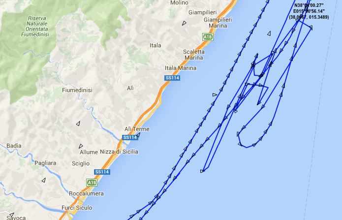 Proefvaart Acciarello 7 april 2016