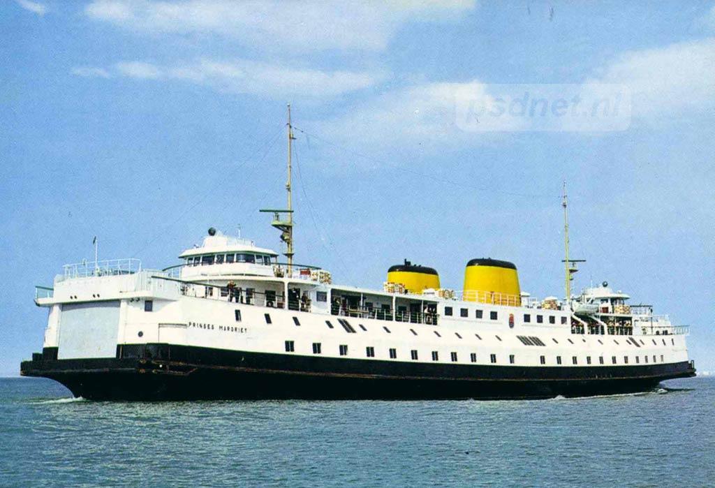 De Prinses Margriet was in 1964 de laatste enkeldeksveerboot voor de PSD in Zeeland