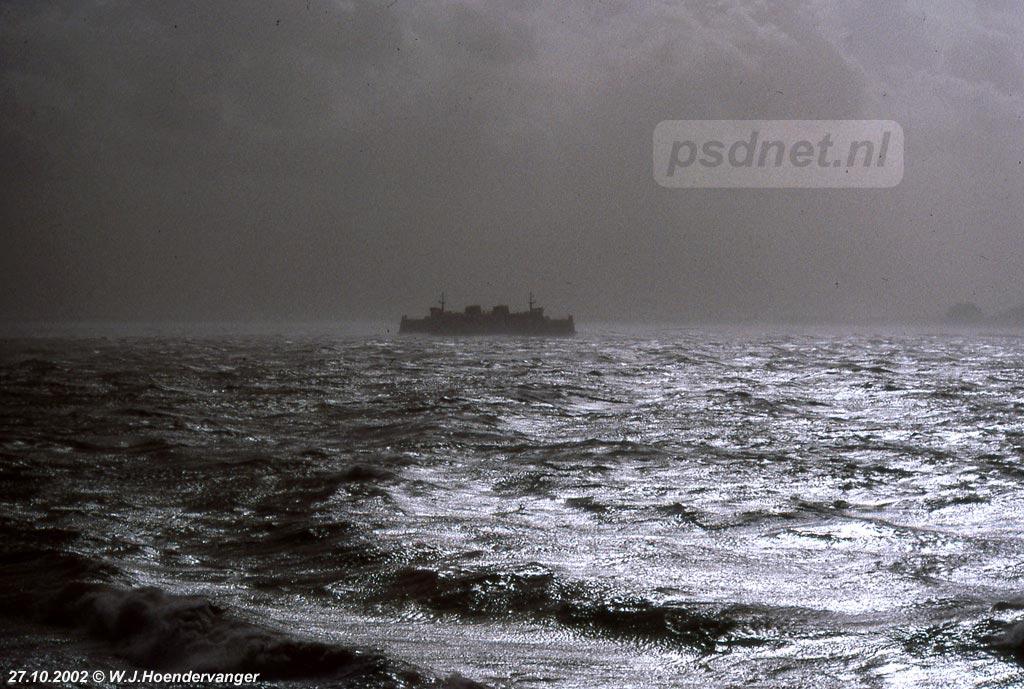 Ook met windkracht 11 werd er gevaren door de PSD, maar soms met minder geluk zoals op 27 oktober 2002.