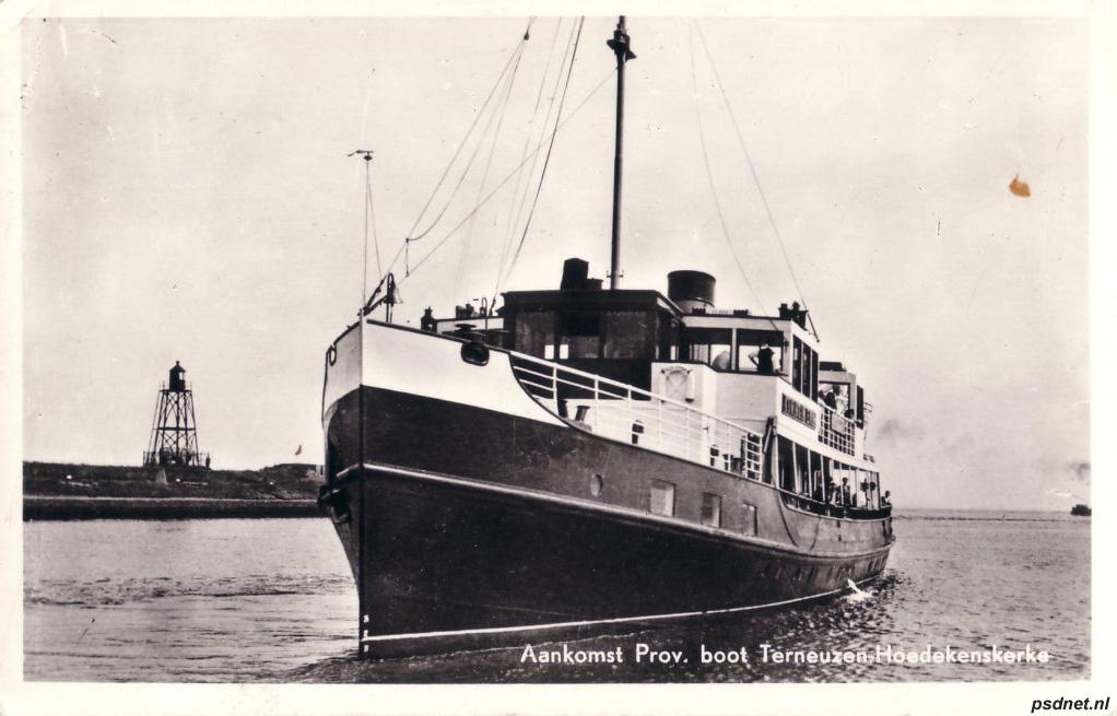Direct na de oorlog was de Koningin Emma de enige niet verlengde zijlader in de PSD-vloot