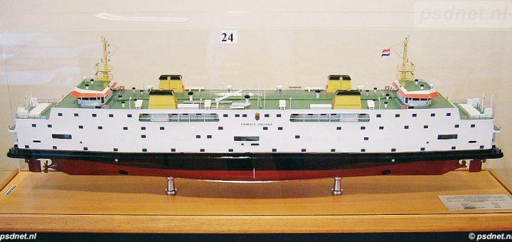 Werfmodel veerboot Prinses Juliana