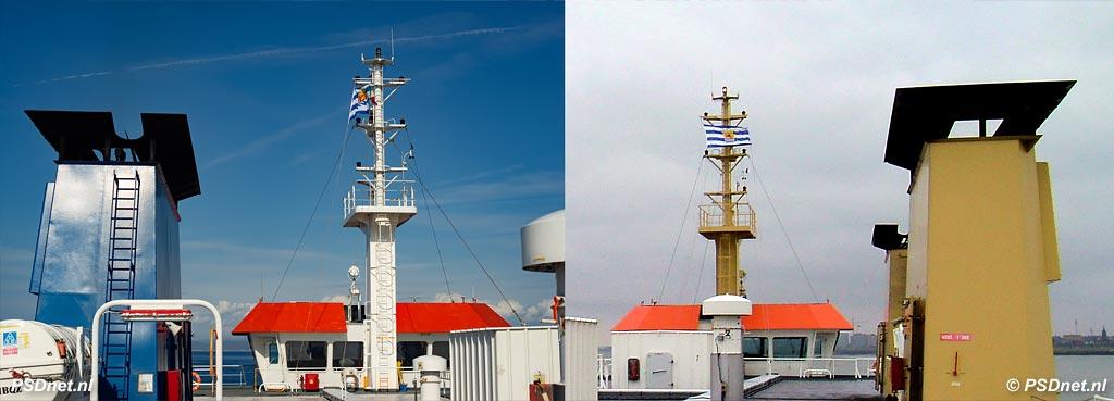 De Zeeuwse vlag in top van de PSD-boot Friso in Italië en Zeeland